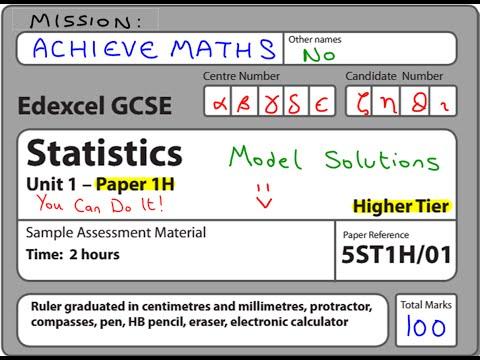 GCSE Statistics Edexcel Sample Exam Paper (complete paper)