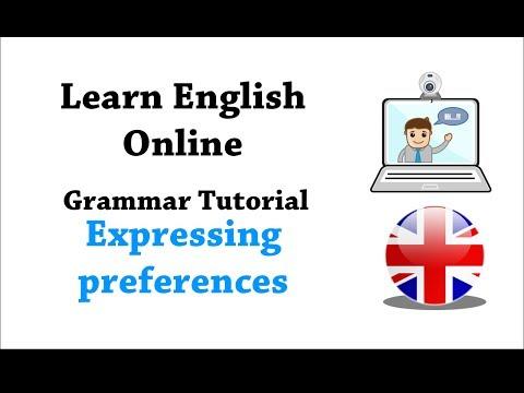 English grammar tutorial: Expressing preferences