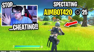 I died and spectated TWO CHEATERS who RUINED my Fortnite Scrims... (unbelievable)