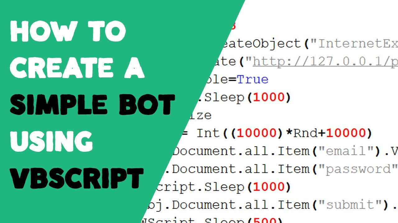 How to create a Simple Bot using VBScript