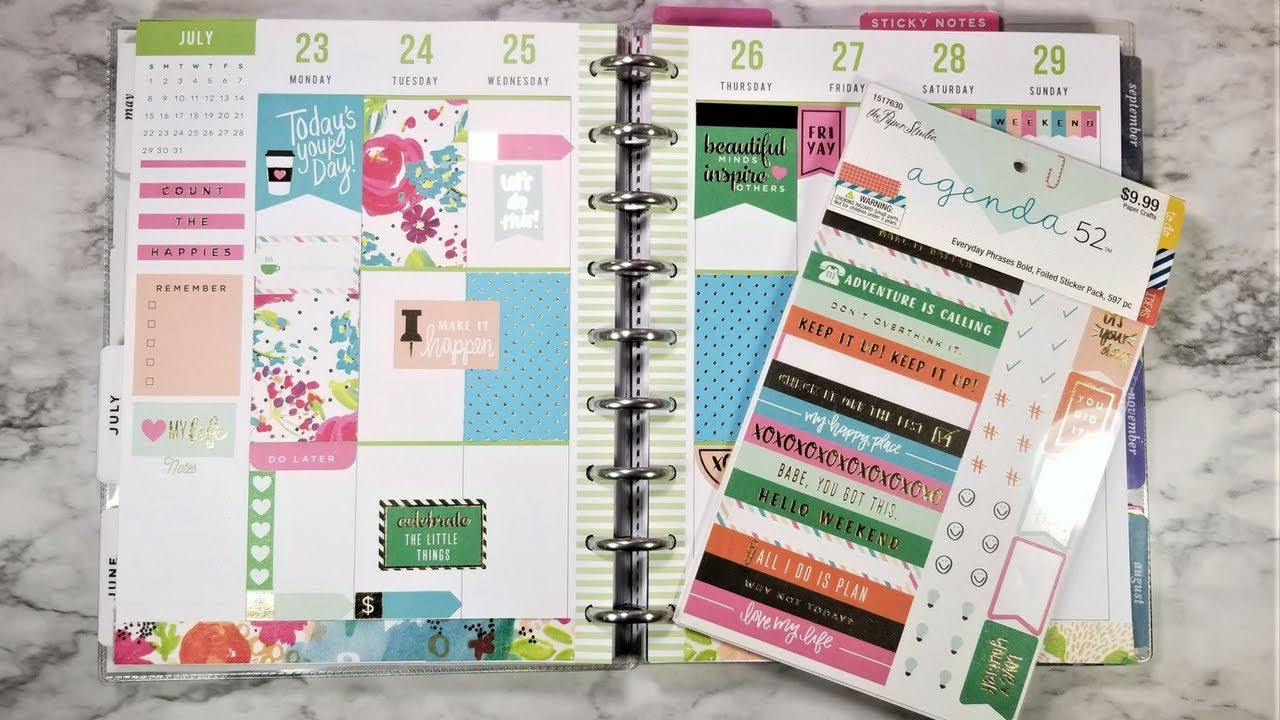 Plan With Me Using Hobby Lobby Stickers Scrapbook Paper The