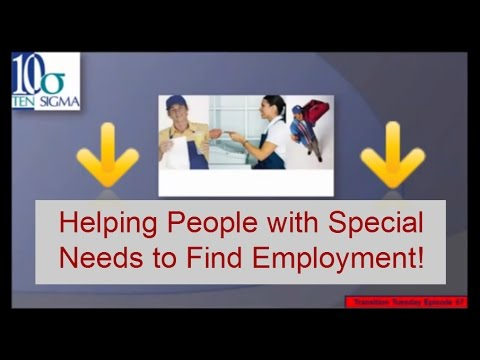 Employment for people with disabilities Episode 67 of Transition Tuesday
