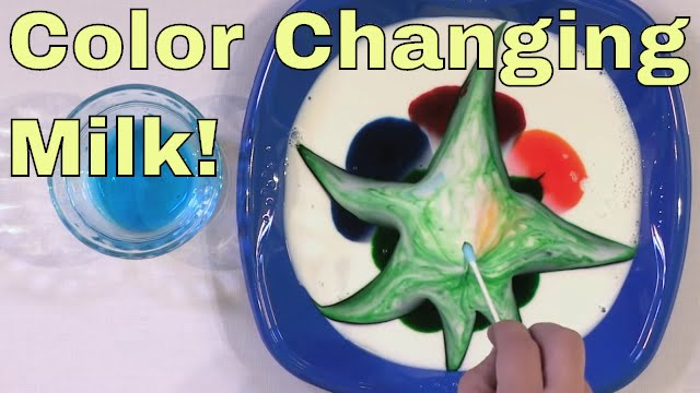 Color Changing Milk - Science Experiment! - Milk + Food Coloring ...