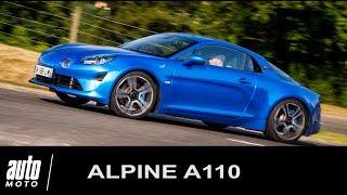 Alpine A110 Essai en POV à Dieppe Auto-Moto.com