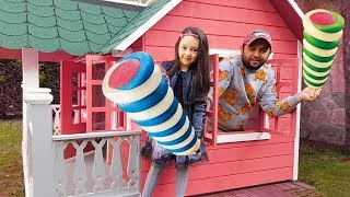 Öykü and New Playhouse Ice Cream Game - Fun kids video - Oyuncak Avı