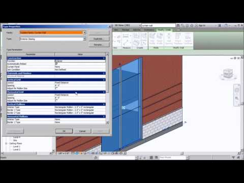 Modeling Curtain Wall Systems in Revit Part 2