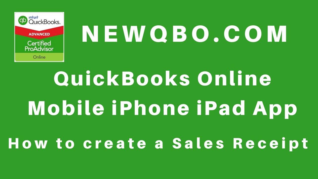 how to create sales receipt in quickbooks online
