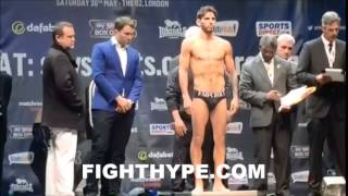 JORGE LINARES VS. KEVIN MITCHELL WEIGH-IN AND FACE OFF