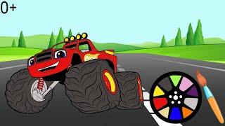 Мультик раскраска Детские онлаи н раскраски с героями из мультфильма Вспыш и чудо машины