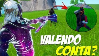 DUEL BETWEEN RARE SKINS IN THE FORTNITE ACCOUNT? -GALAXY VS IKONIK