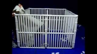 Installing X Pen Cover On A Pet Crate - By Rover Company