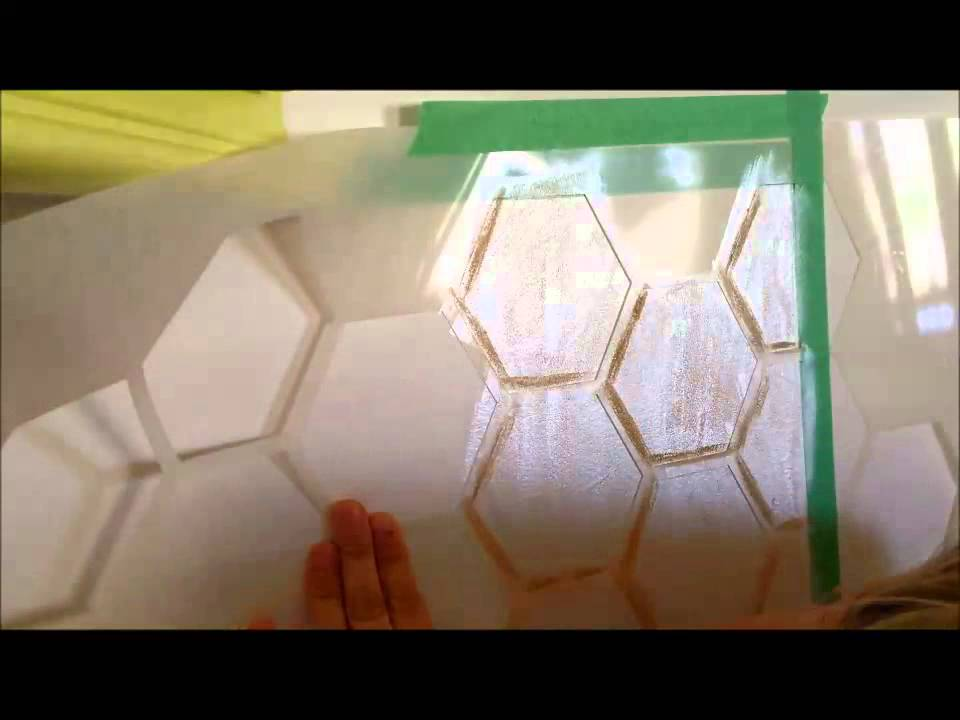 How To Stencil A Hexagon Backsplash Look Like Legit Porcelain Tile Reality Daydream