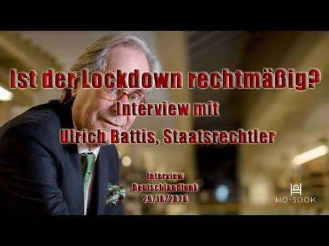 Ist der Lockdown rechtmäßig? - Interview mit Ulrich Battis, Staatsrechtler [Audio]