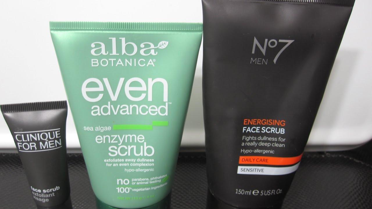 fa00f0816929a Best Face Scrub For Men- Clinique For Men vs. No.7 For Men vs. Alba Even  Advanced