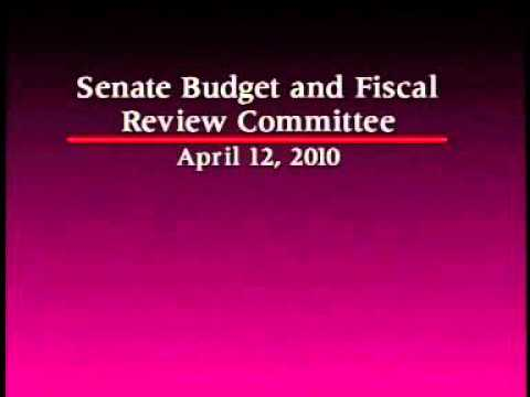 Senate Budget and Fiscal Review Committee  1/2 4/12/2010