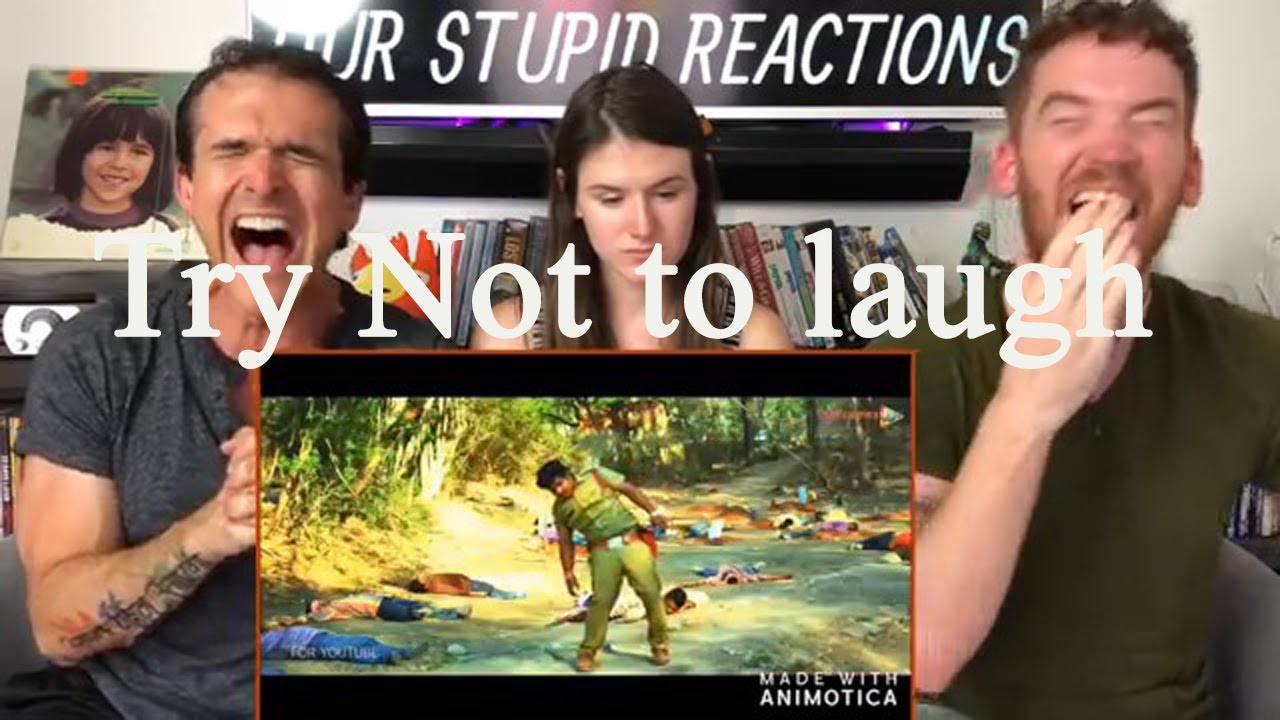 Funniest reaction to Bollywood action scenes, Try not to laugh challenge, challenge accepted?