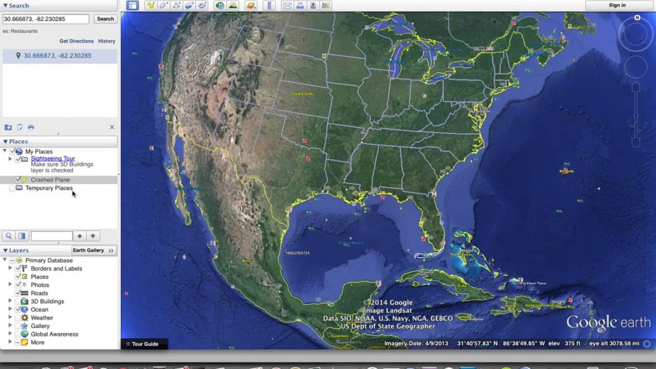 Missing Plane Found In Georgia Swamps Google Earth YouTube - Georgia map google earth
