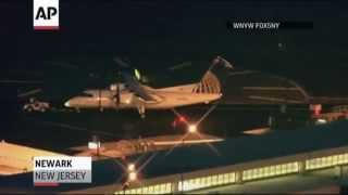Two planes clip wings at Newark Airport