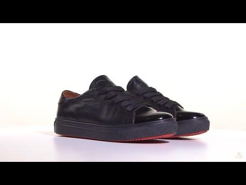Кеды с красным следом и лаковым носком - YouTube b9c901cbf47