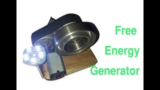 how to make free homemade generator | free electricity bank | bearing power |  Energy 2018