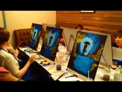 Umbrella Couple Painting