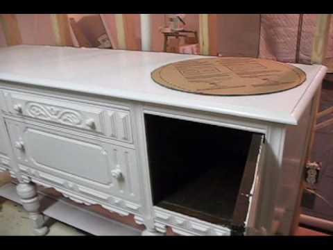 Antique sideboard turned into bathroom vanity 1st vidwmv