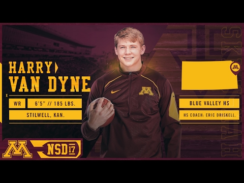 Harry Van Dyne Highlights: 2017 Gopher Football Signing Day