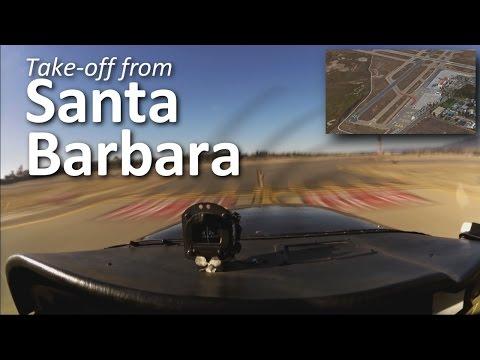 Décollage de Santa Barbara en Cessna 172 avec communications radio enregistrées (Farwest'15v2)
