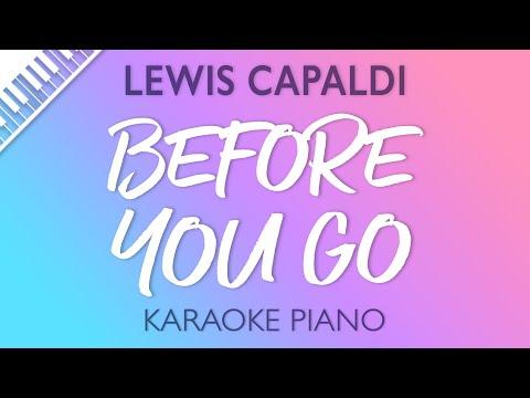 Lewis Capaldi - Before You Go (Karaoke Piano)