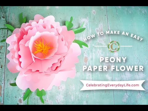 How to Make a GIANT Peony Paper Flower