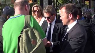 Hugh Grant signs autographs at Wimbledon 2016