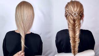 Прическа на длинные волосы Коса колосок