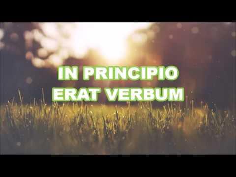 John 1:1-7 (Latin vulgate instrumental with lyrics)