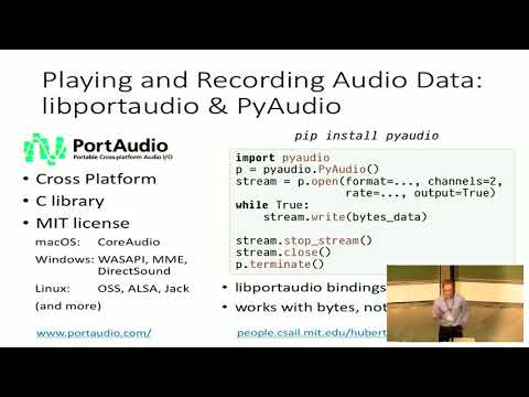 PyVideo org · Working with Audio Data in Python