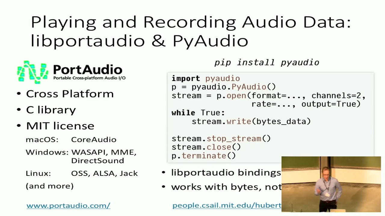 Image from EuroSciPy 2017: Working with Audio Data in Python