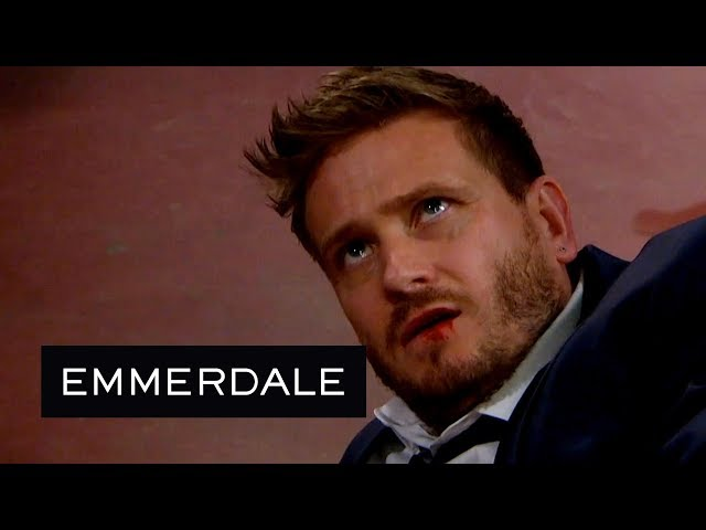 Emmerdale - Jacob Viciously Punches a Terrified David