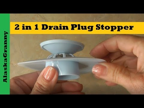 Download 2 in 1 Drain Plug Stopper Silicone Drain Stopper Hair Catcher