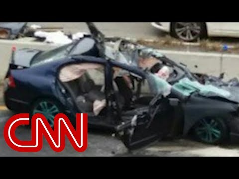 Driver live-streams 104 mph crash