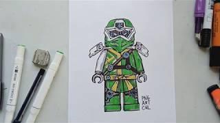 How to draw Lloyd from lego ninjago 12 season step by step ...