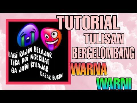 Cara Membuat Ccp Teks Bergelombang Rainbow Youtube