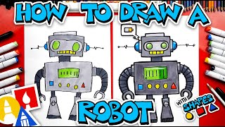 How To Draw A Robot Using Shapes