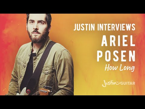 Ariel Posen Discussing His Song How Long With Justin! Open C Tuning Guitar Lesson