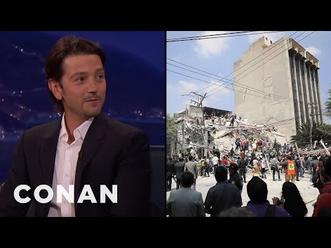 Diego Luna On His Experience In The Mexico City Earthquake  - CONAN on TBS