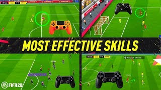 FIFA 20 MOST EFFECTIVE SKILLS TUTORIAL - BEST MOVES TO USE IN FIFA 20 - BECOME A DIVISION 1 PLAYER