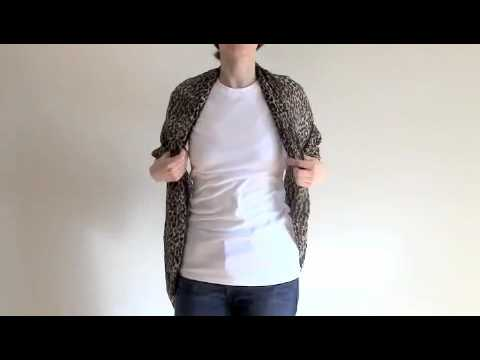 How To Tie A Scarf Infinity Shrug Youtube