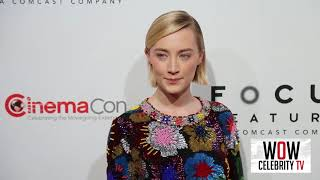 Saoirse Ronan at Focus Features presentation at CinemaCon in Las Vegas