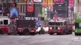 NYPD Responding Police Car & FDNY Firetrucks Horn Sound Effect on New York streets 2015 HD ©