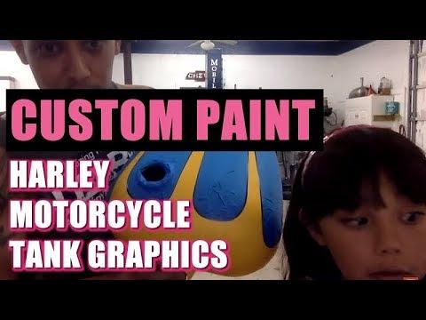 Custom Paint: Harley Motorcycle Tank Graphics - Plus Q&A