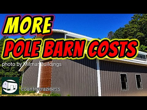The cost of pole barns and pole barn homes is more than just the builder.
