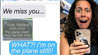 My Family Thinks I&#39m DEAD!!! *The Plane Crash That Never Happened!* (Scary Text Message Story)